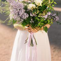 Букет невесты из сирени