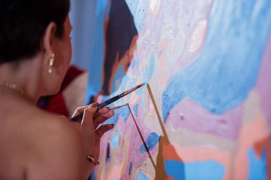 Фото 8651216 в коллекции Живописный интерактив - картина в исполнении гостей события! - Artlumen show - портрет-шоу