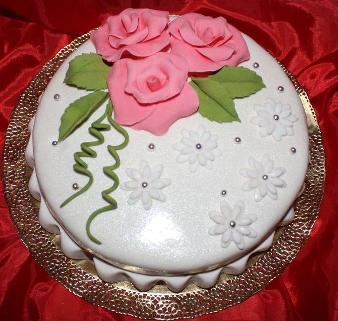 Торт свадебный одноярусные фото