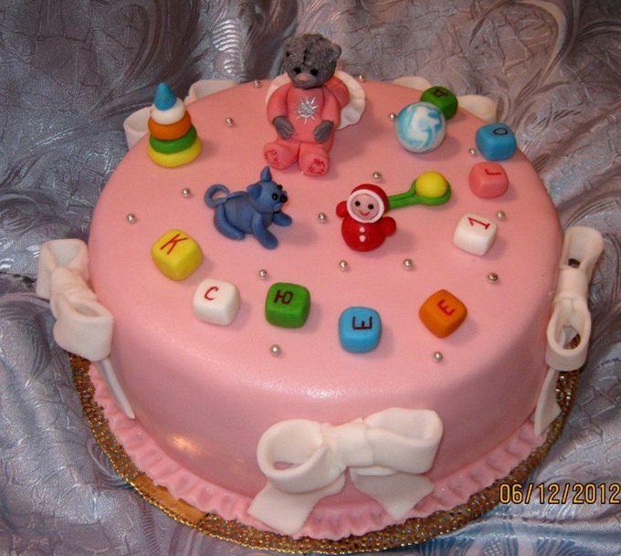 детские мастичные тортики фото