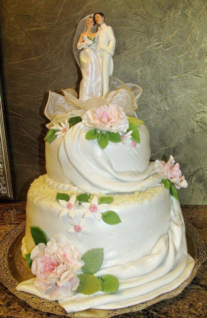 двух ярусный свадебный торт фото