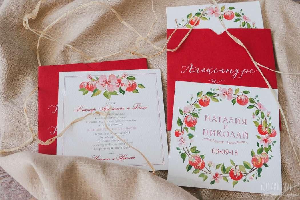 Приглашения для яблочной свадьбы - фото 12449478 You are invited - полиграфия