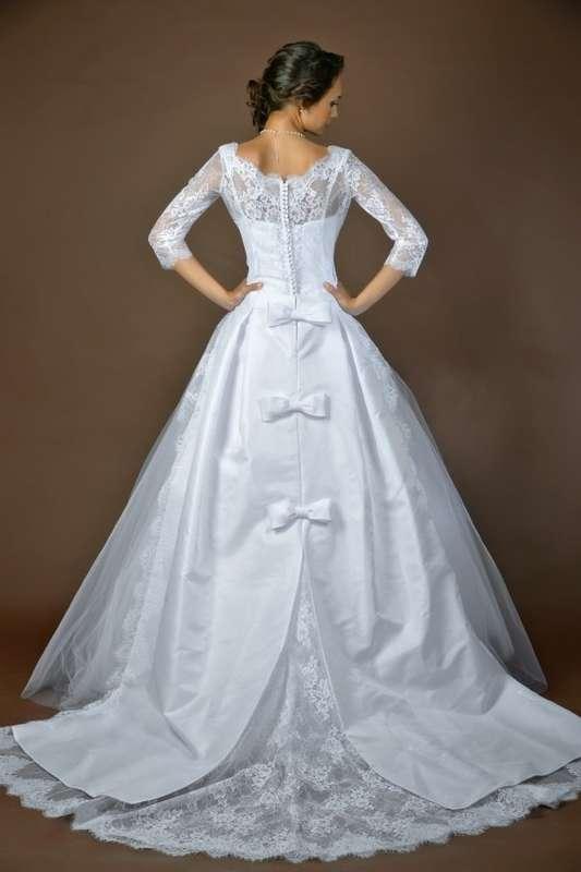 """модель """"Королева эльфов"""" платье с кружевной снимающейся накидкой - фото 4078889 Дея Торис - свадебный салон"""
