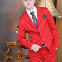мужской красный свадебный костюм
