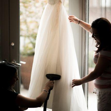 Профессиональное отпаривание свадебных платьев
