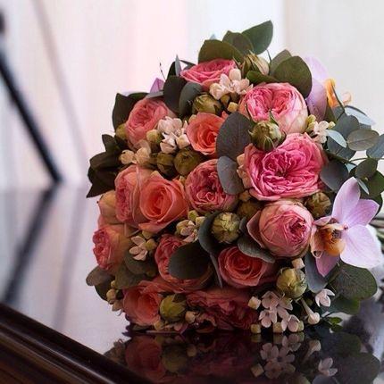 Букет невесты из розы Остина