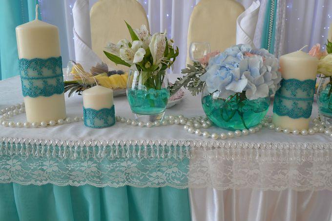 Свадебный стол с кружевом