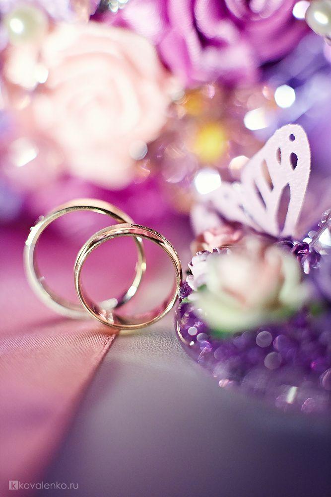 Картинка с днем свадьбы сиреневая