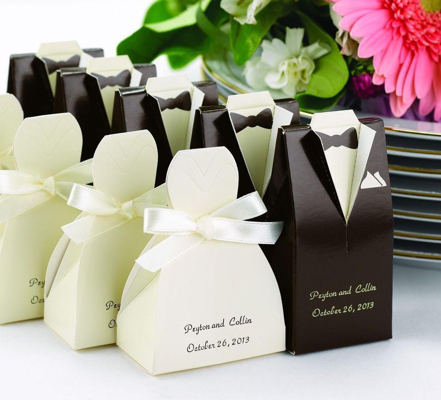 Упаковка для подарка на свадьбу гостям 95