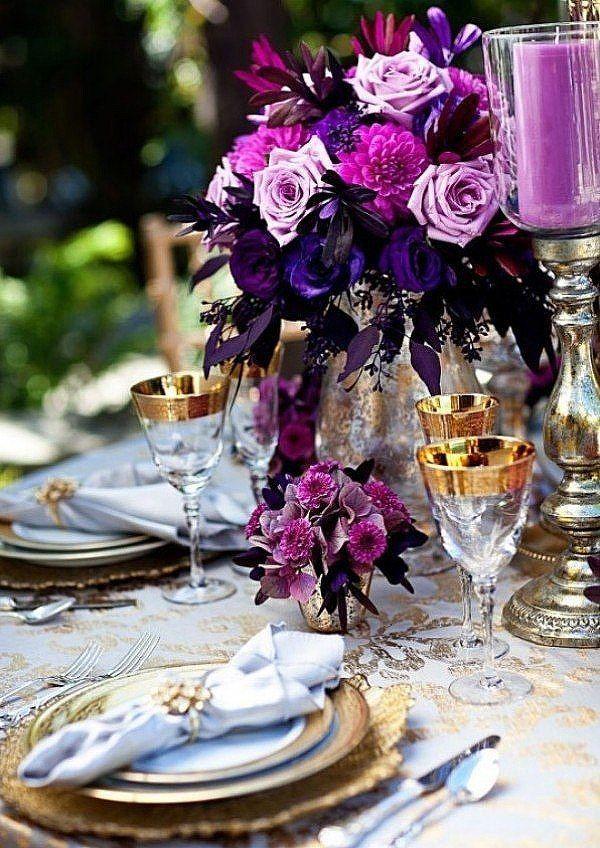 фиолетовый. сиреневый, золото, оформление - фото 10438382 Невеста01