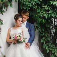 Нежный букет невесты с пионовидными розами