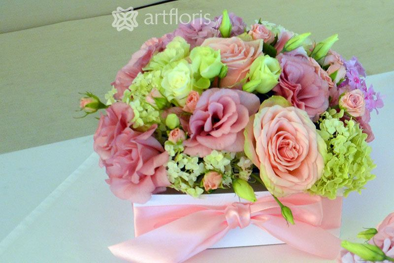 композиция в нежных оттенках розового цвета для оформления ресторана Кувшин - фото 6580118 Артфлорис - ажурный декор, флористика, драпировка
