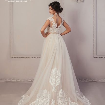 Свадебное платье Casta Diva, мокко