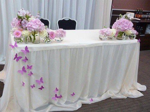 Украшение свадебного стола своими руками жениха и невесты