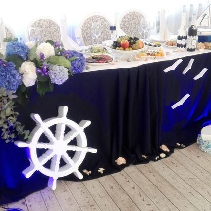 """Оформление свадьбы """"под ключ"""" в морском стиле"""