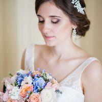 сборы невесты, персиково-голубая свадьба, идея для свадьбы, образ невесты, креативная свадьба, яркая свадьба, нежная, нежность