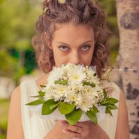 Букет невесты из белых астр