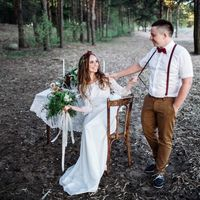 """Невеста в свадебном платье """"Загадка природы"""""""
