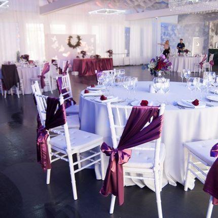 Оформление свадьбы в цвете марсала на 60 человек