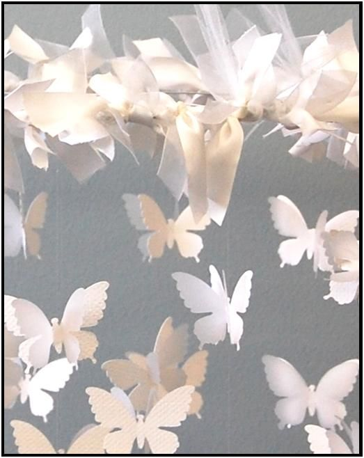 Бумажные бабочки на леске