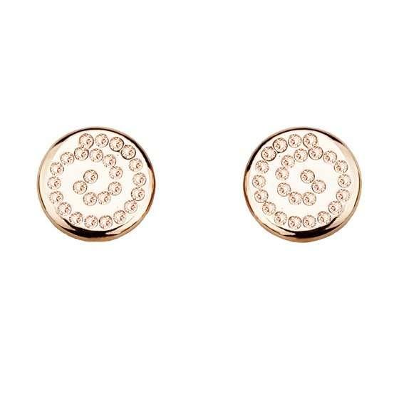 Серьги Parisienne mini gold silk Покрытие - золото 585 пробы Вставки - кристаллы Swarovski   - фото 5089173 Ювелирный салон Mademoiselle Jolie Paris