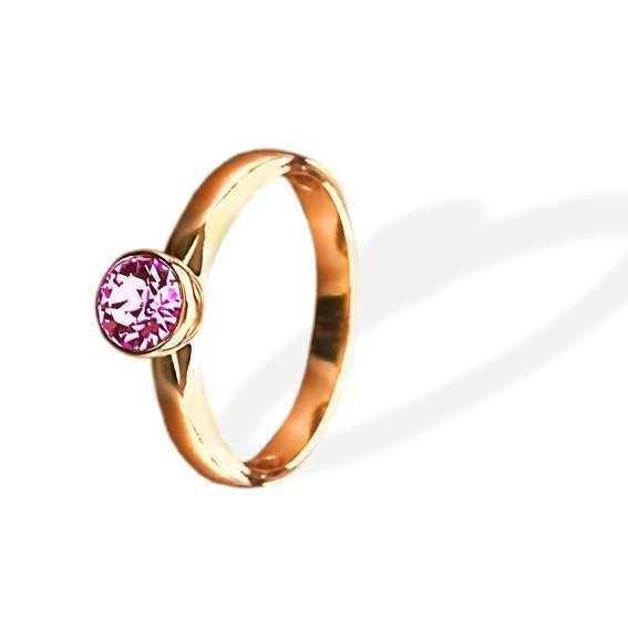 Кольцо Parisienne grand gold silk Покрытие - золото 585 пробы Вставки - кристаллы Swarovski Размеры 16-19   - фото 5089195 Ювелирный салон Mademoiselle Jolie Paris