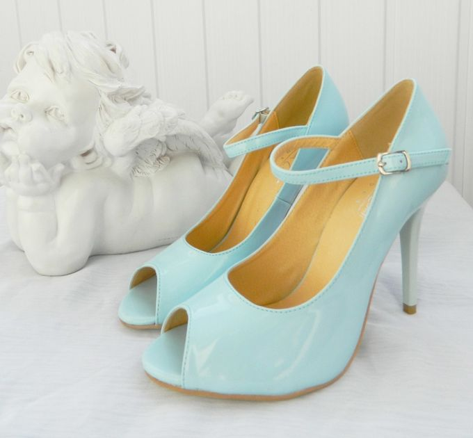 Голубые свадебные туфли. 38-39р-р, ПРОМОцена 2800
