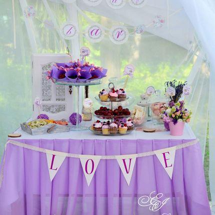 Оформление Candy bar (сладкий стол)
