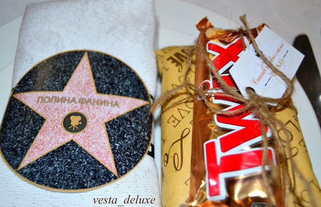 именное оформление салфеток,  бонбоньерки - сладкие подарки для каждого гостя. - фото 7694756 Vesta Deluxe - оформление свадеб