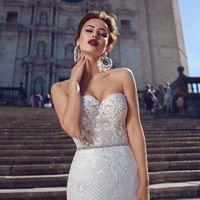 Бостон (MR)Сексуальное свадебное платье силуэта русалка с открытым верхом в форме сердечка и юбкой с длинным шлейфом