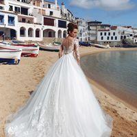Бриджит (MR) Великолепное свадебное платье А-силуэта с кружевным верхом и пышной юбкой из фатина