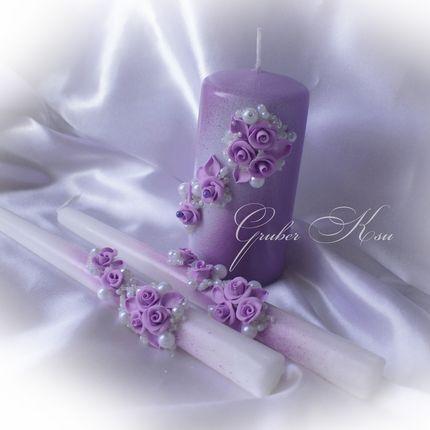 """Свадебные свечи """"Виктория"""""""