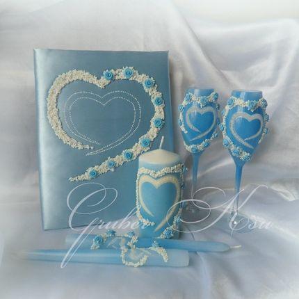 """Набор свадебных аксессуаров """"Голубая мечта"""""""