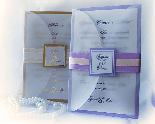 """Фото 5256659 в коллекции Свадебные приглашения - """"Ажур декор"""" - студия красивых свадеб"""