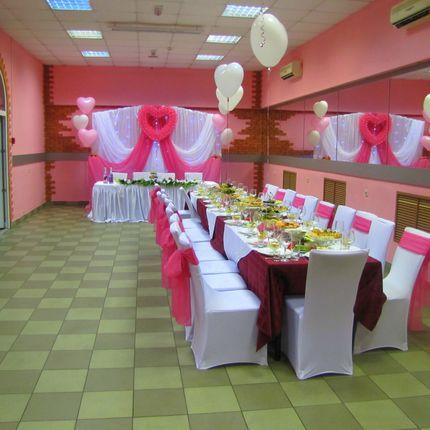 Оформление банкетного зала для розовай свадьбы