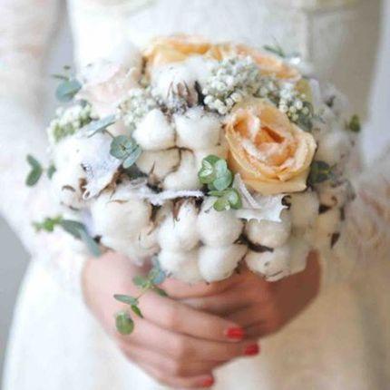 Букет невесты из хлопком