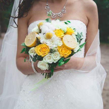 Лимонный букет невесты