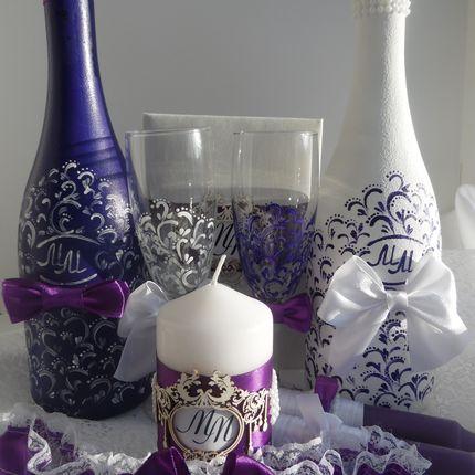 Набор аксессуаров в фиолетовом цвете