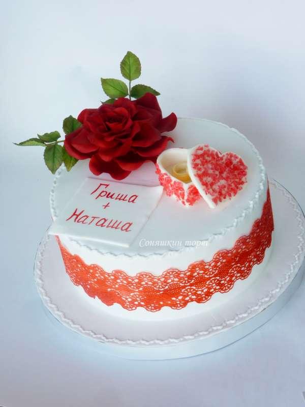 Торт с кружевом фото