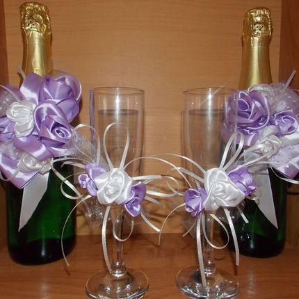 Декор бокалов и бутылок