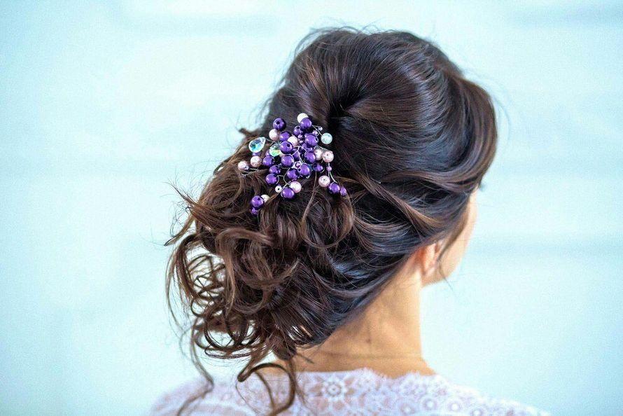 Свадебная прическа для длинных волос