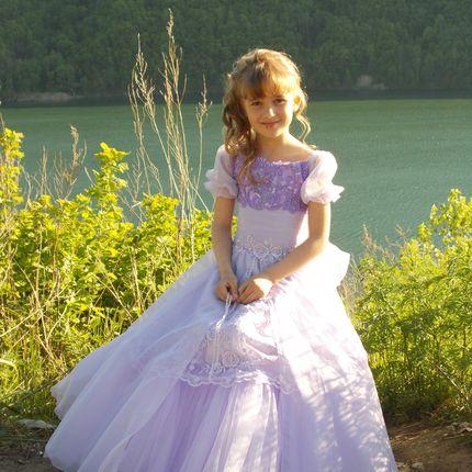 Длинное детское платье Ук-100