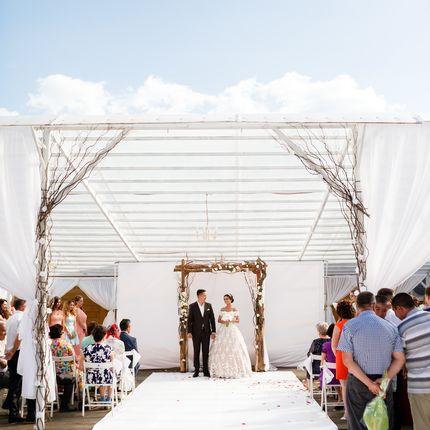Аренда свадебного шатра на природе