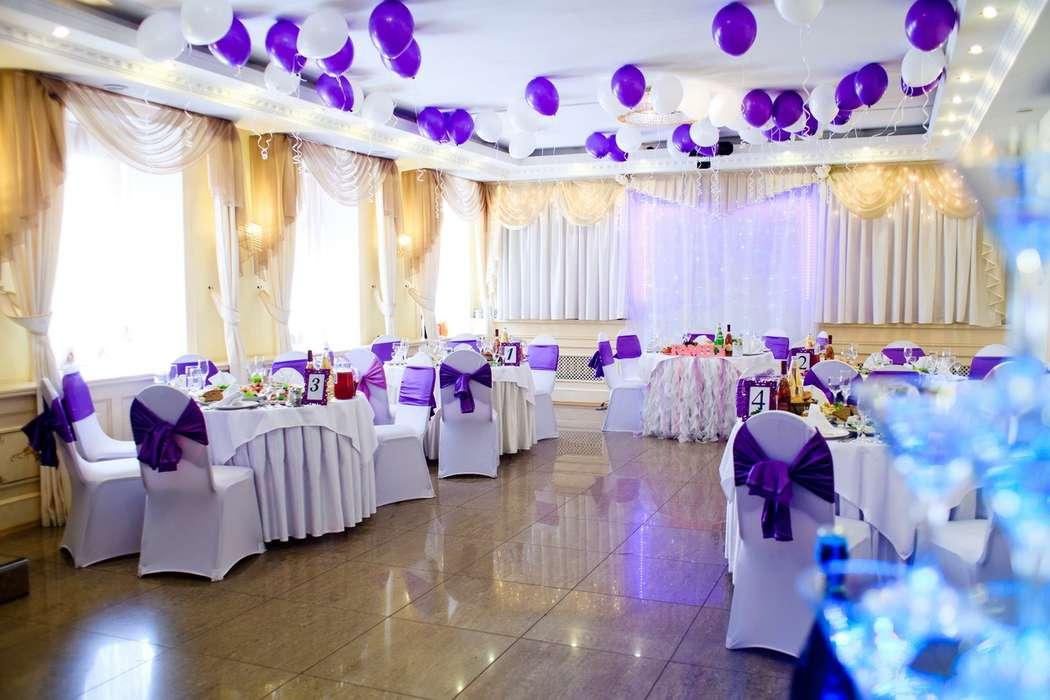 """Фиолетовое оформление зала  - фото 13289066 Банкетный зал """"Корсаков"""""""