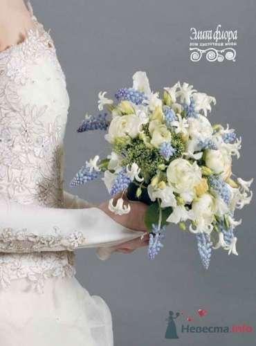Бело-голубой букет невесты - фото 1827 leshechka