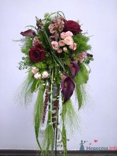 Букет каскадный - фото 733 Флорист-дизайнер Екатерина