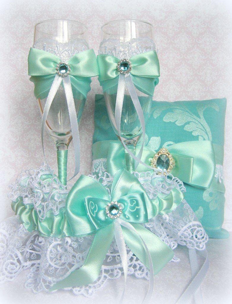 Бирюзовый свадебный комплект