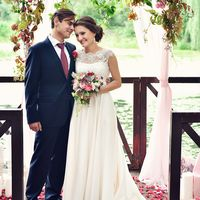 Церемония в цвете марсала
