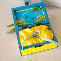 Шкатулка для колец в желто-голубых тонах