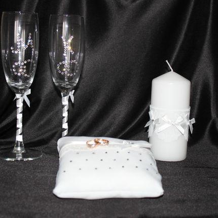Свадебный набор со стразами Swarovski
